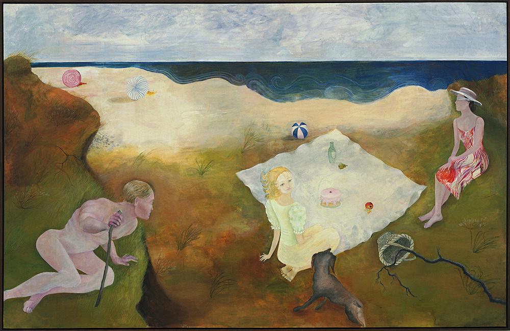 "Katharina Wulff – ""Zwei ernsthafte Damen (Two Serious Ladies)"", 2003 oil on canvas 148 x 229 cm"