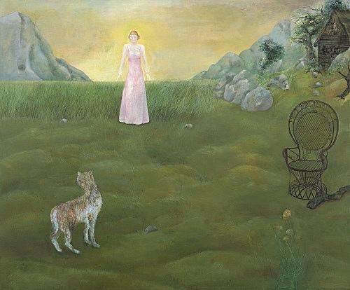 """Katharina Wulff – """"Das Verbrechen"""", 2005 oil on canvas 171 x 210 cm"""
