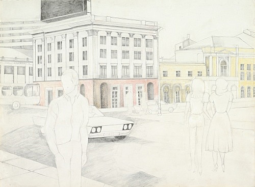Katharina Wulff – Untitled, 2010 pencil and coloured pencil on paper 20,5 x 27,9 cm (framed 42,5 x 50 cm)