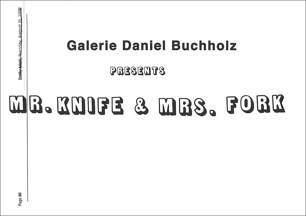 """Mr. Knife & Mrs. Fork"""