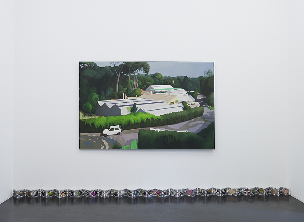 "Lukas Duwenhögger – ""Roman Holiday"", 1999 oil on canvas 130 x 200 cm & ""Voie de Fleurs (sans Pleurs)"", 1999 leporello with original photographs dimensions variable"
