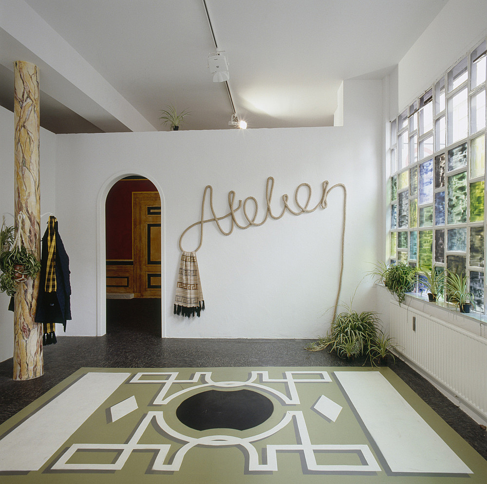 Atelier – Beca Lipscombe, Lucy McKenzie, Bernie Reid installation view, Christophstraße 18, Köln 2007