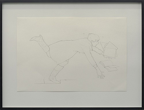 "Lucy McKenzie – ""Self-portrait Falling Over (drawing)"", 2004