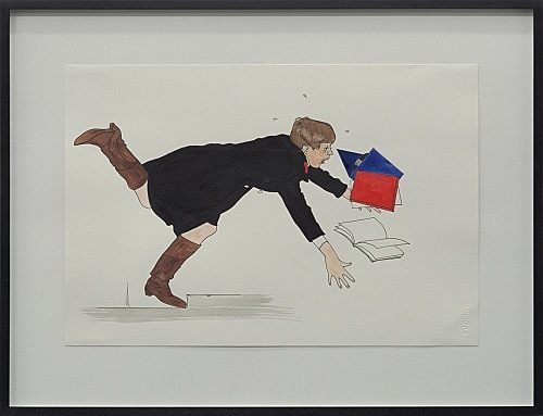 "Lucy McKenzie – ""Self-portrait Falling Over"", 2004