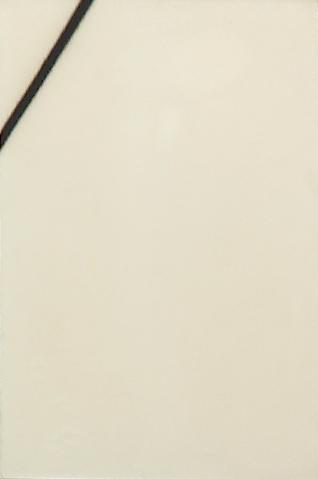 """Martin Barré – """"65-A 81 x 54"""", 1965 glycerol and acrylic on canvas 81 x 54 cm"""