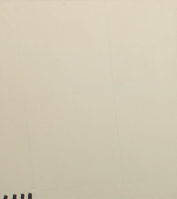 """Martin Barré – """"72-73-D 130 x 120"""", 1972/73 oil on canvas 130 x 120 cm"""