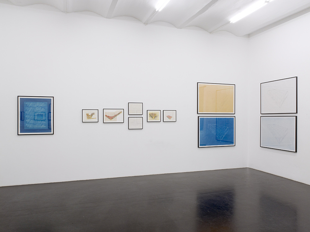 Morgan Fisher – Works on paper 1966-2008 installation view Galerie Daniel Buchholz, Köln 2010