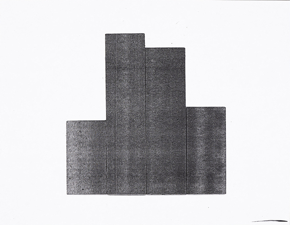 """Morgan Fisher – """"Study for painting"""", 2006 xerox on paper 21,4 x 27,5 cm"""