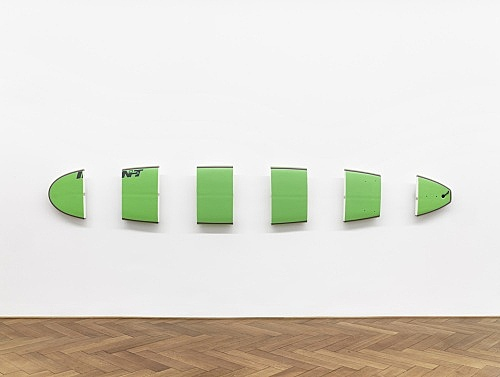 "Michael Krebber – ""INT (green)"", 2010 