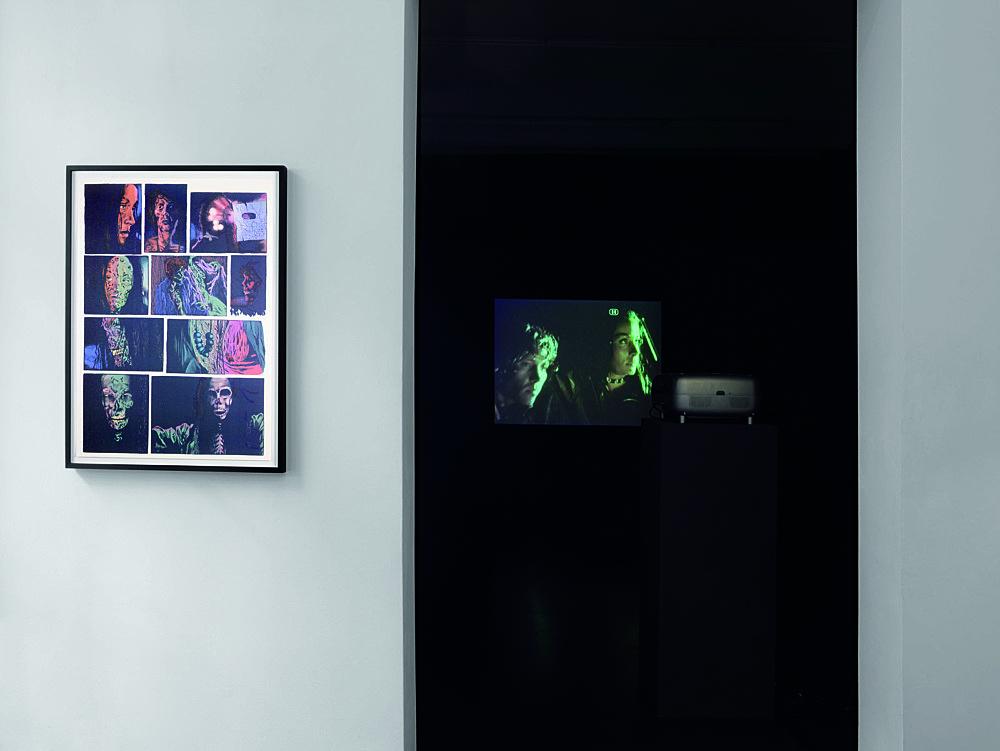 "Mark Leckey – ""The Council Of The Eruption Of The Marvellous"" installation view Galerie Daniel Buchholz, Köln 2007"