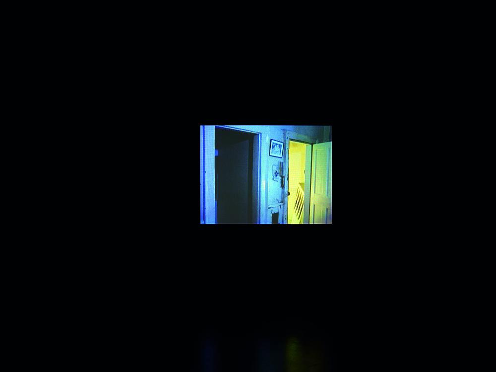 "Mark Leckey – ""The Council Of The Eruption Of The Marvellous"", 2007 DVD, 10'17"" installation view Galerie Daniel Buchholz, Köln 2007"