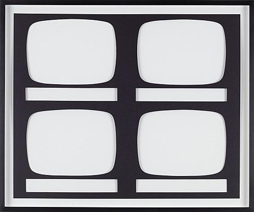 Mathias Poledna – Untitled, 2008 cutout, cardboard 35,5 x 43,5 cm frame 41 x 48,5 cm