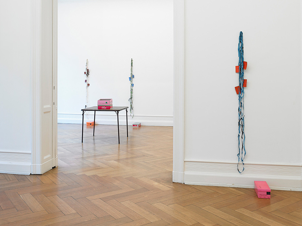 """Richard Hawkins – """"Scalps, Dungeon Doors and Salome Paintings"""" installation view Galerie Buchholz, Berlin 2011"""