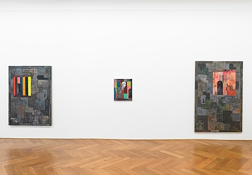 "Richard Hawkins – ""Scalps, Dungeon Doors and Salome Paintings"" installation view Galerie Buchholz, Berlin 2011"