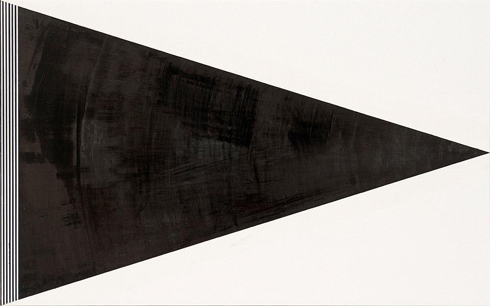 """R.H. Quaytman – """"Cherchez Holopherne, Chapter 21"""", 2011 oil on wood 31.4 x 50.8 cm"""