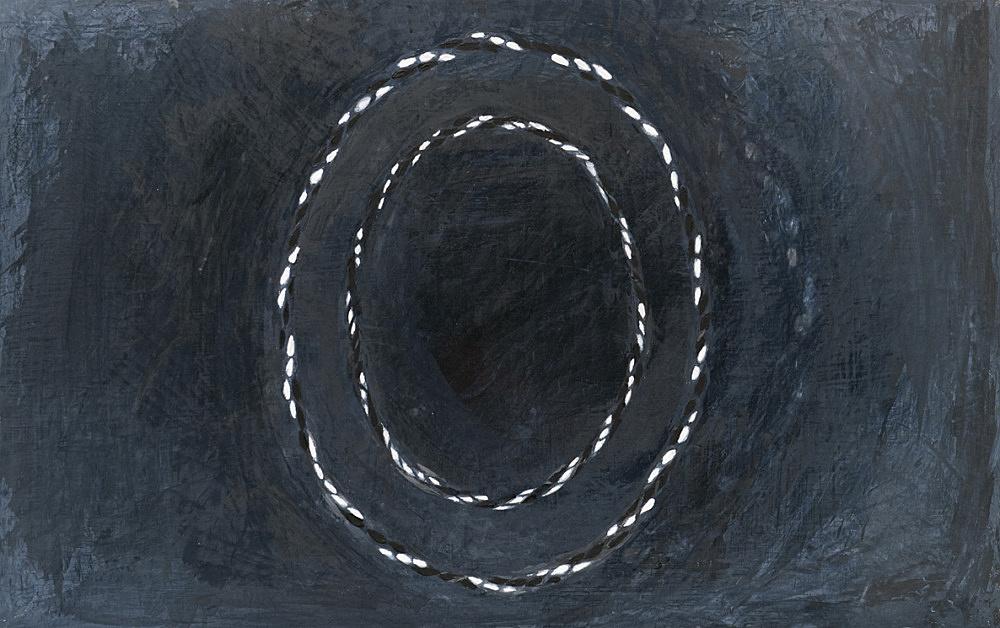 """R.H. Quaytman – Cherchez Holopherne, Chapter 21"""", 2011 oil on wood 50.8 x 31.4 cm"""