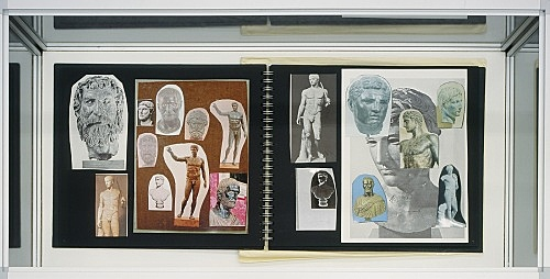 "Richard Hawkins – ""Urbis Paganus III. 15"", 2006 collaged artist book, 32 pages with collaged envelope 30 x 33,5 cm"