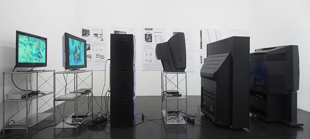 "Simon Denny – ""Deep Sea Vaudeo"" installation view Galerie Daniel Buchholz, Köln 2009"
