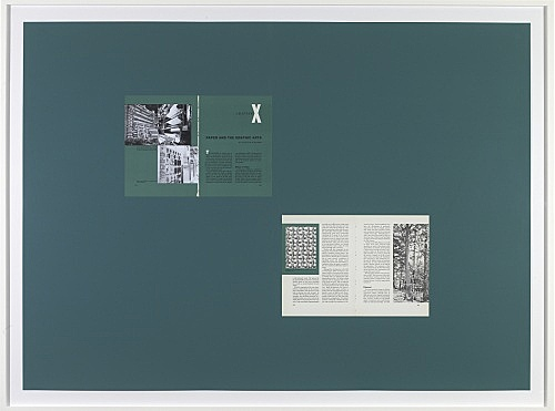 "Sam Lewitt – ""Printing Progress: 1959"", 2008 collage, screenprint, book pages, graphite 100 x 140 cm"