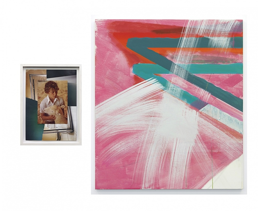 Thomas Eggerer – Untitled, 2009 collage 34 x 26 cm framed & Untitled, 2009 acrylic on canvas 100 x 86 cm
