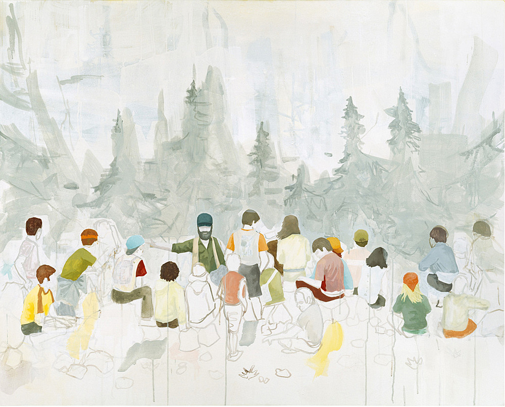 "Thomas Eggerer – ""Nationalpark"", 2002 acrylic on canvas 121.5 x 152.5 cm"