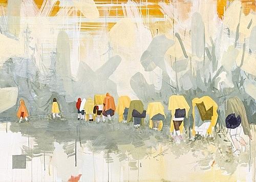 "Thomas Eggerer – ""Hiking Trail"", 2002 acrylic on canvas 110 x 155 cm"