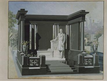 """Lecreux Frères – """"Aquarelle tombeau"""" C-Print 17,6 x 23,8 cm"""