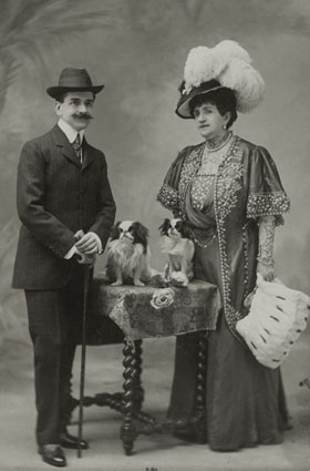 "– ""Raymond Roussel with his mother Marguerite Roussel"", ca. 1910 b/w photograph"