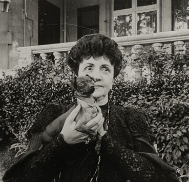 "– ""Raymond Roussel's mother in the garden of her house in Neuilly"", ca. 1900