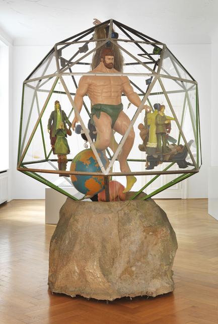 "Jacques Carelman – ""Le Diamant"", 1976 metal, plastic, perspex, resin, electric motor, lamps ca. 270 x 280 x 220 cm"