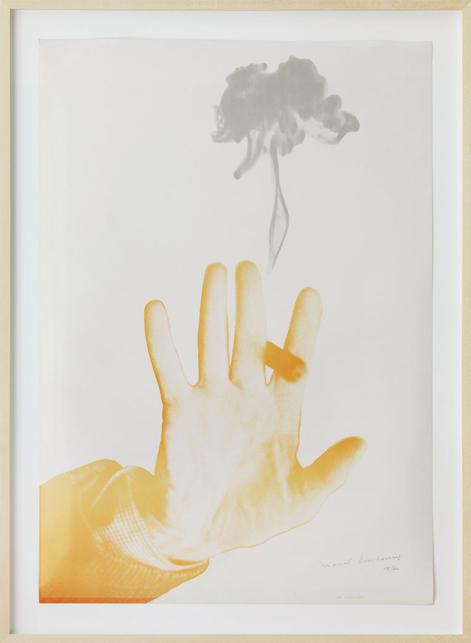 """Marcel Duchamp – """"Fumée de Cigare"""" 1967 exhibition poster, Paris, Gallery Givaudan, 1967 photolithography 78 x 57 cm"""