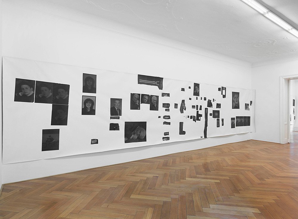 "Henrik Olesen – ""Hysterical Men 1"", 2013 canvas, inkjet print on Proof Paper ZP 55 (Newspaper), 55 gouache /m2, Amsterdam Gel Medium Matt Glue 215 x 1000 cm"