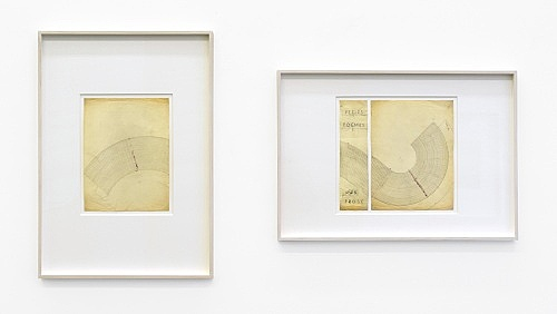 Paul Bonet – Untitled, n.d. ink, pencil, embossed, on paper 33,5 x 25,4 cm & Untitled, n.d. two parts, ink, coloured pencil, embossed, on paper 33,5 x 8,7 cm