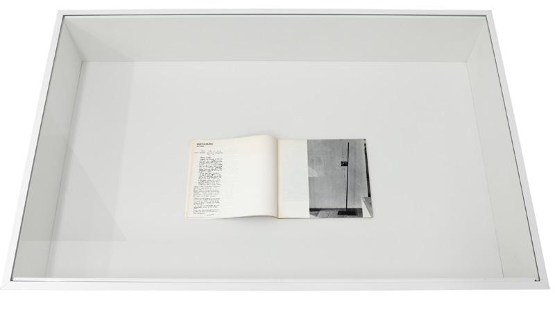 """Martin Barré – Vitrine: """"Martin Barré – Verticales"""", in: Umwelt-Akzente. Die Expansion der Kunst, exh. cat., Kunstkreis Monschau, Monschau Juni 1970"""