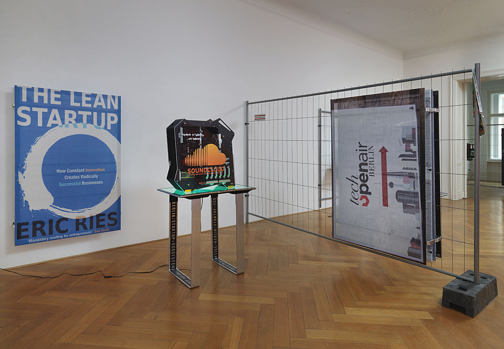 "Simon Denny – ""Disruptive Berlin"" installation view, Galerie Buchholz, Berlin 2014"