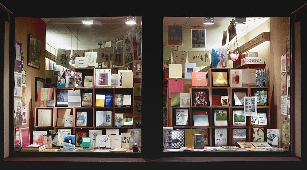 Sigmar Polke – Sämtliche Publikationen installation view Antiquariat Buchholz, Köln 2014