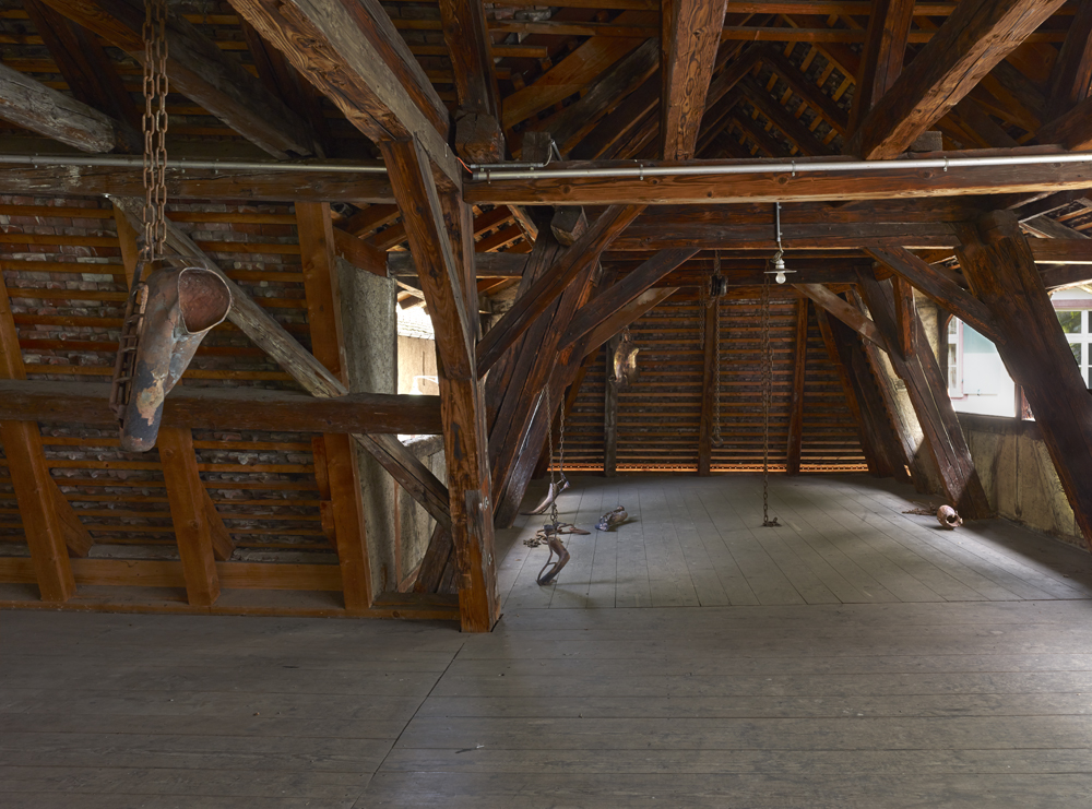 """Danh Vo – """"Gustav's Wing"""", 2013 bronze casting installation, dimensions variable installation view Art Basel, Art Parcour 2013"""