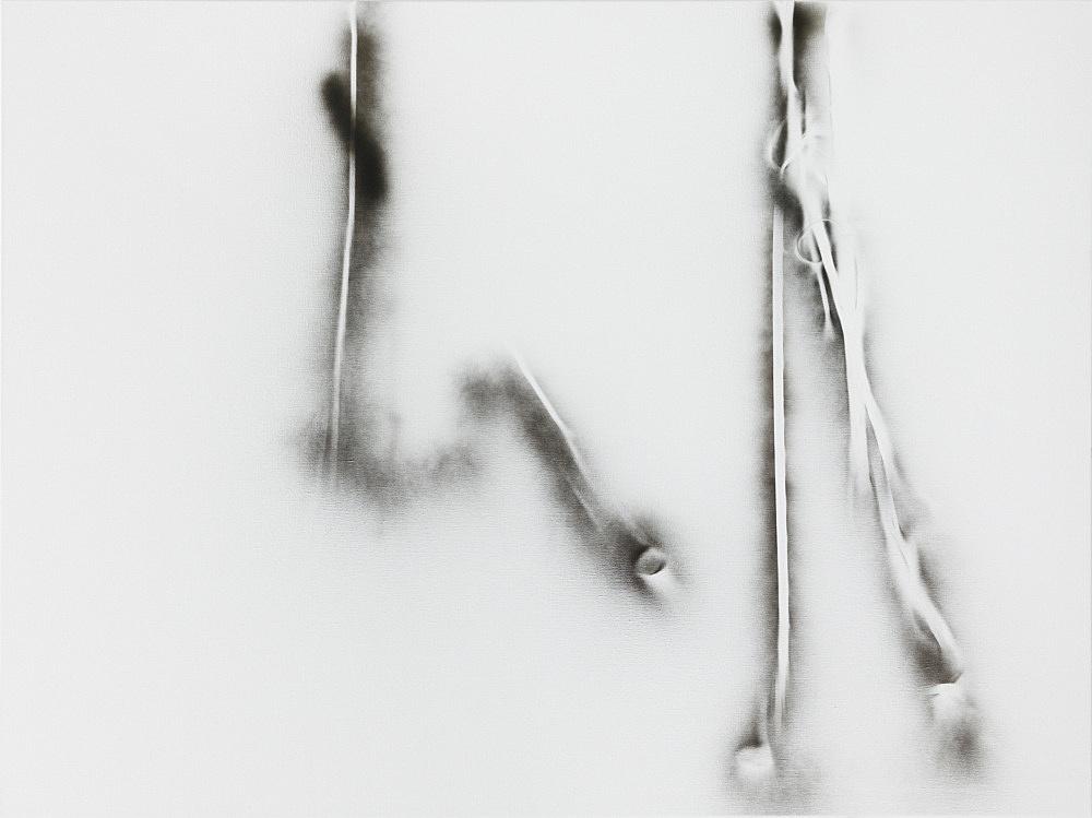 Michael Krebber – MK/M 2014/14, 2014 spray paint on canvas 120 x 160 cm