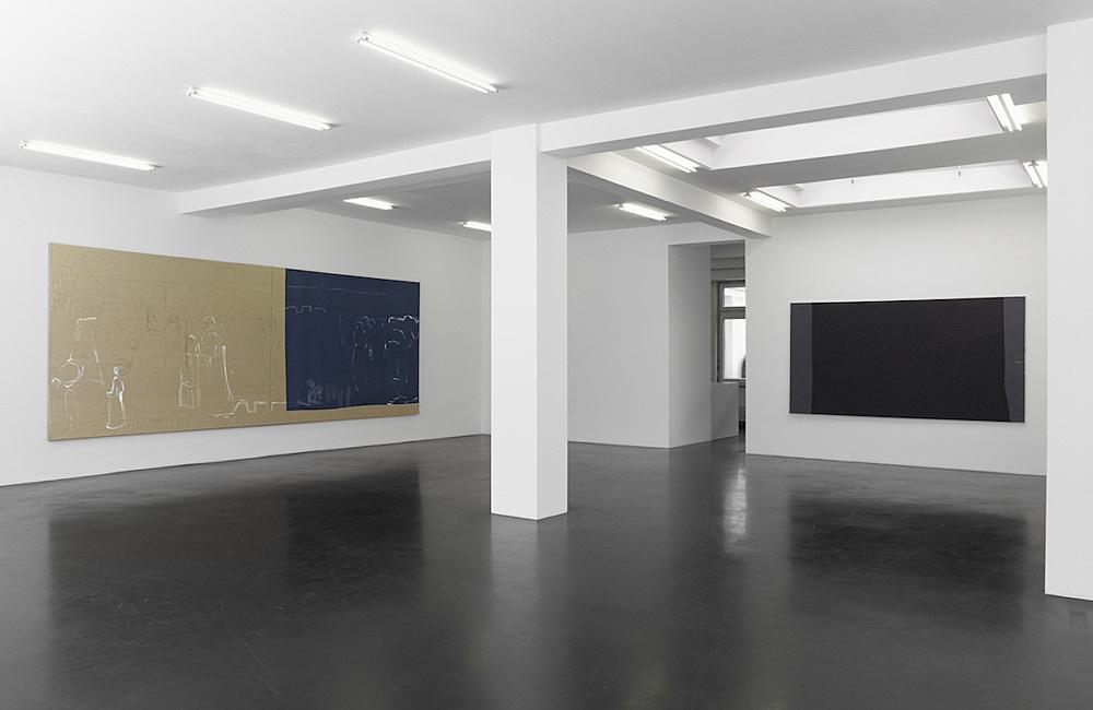 """Cosima von Bonin Sergej Jensen Michael Krebber – """"We not"""" installation view Galerie Buchholz, Köln 2014"""