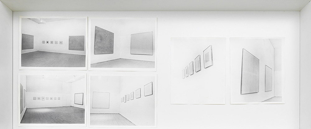 Agnes Martin – Installation views Visual Arts Gallery, New York 1971 c-prints 25 x 20,3 cm each