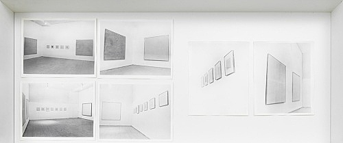 Agnes Martin – Installation views Visual Arts Gallery, New York 1971 c-prints 25 x 20,3 cm each