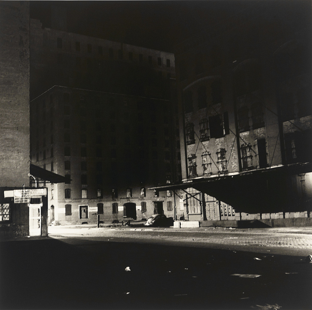 "Peter Hujar – ""Loading Dock at Night"", 1976 vintage gelatin silver print