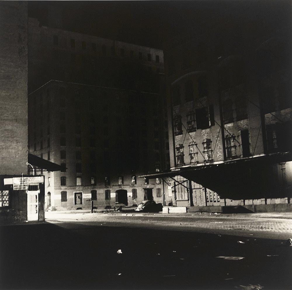 "Peter Hujar – ""Loading Dock at Night"", 1976 vintage gelatin silver print 37,5 x 37,5 cm"