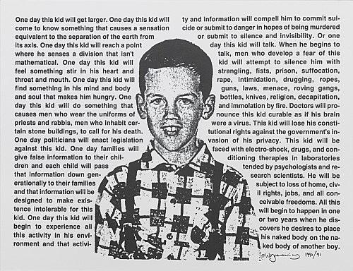 David Wojnarowicz – Untitled (One Day This Kid...), 1990 letterpress print 20,5 x 28 cm