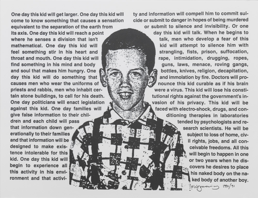 David Wojnarowicz – Untitled (One Day This Kid…), 1990 letterpress print 20,5 x 28 cm
