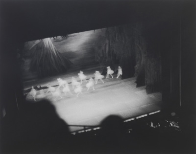 "Louise Lawler – ""Swan Lake (Lincoln Center)"", 1982 black and white photograph 33 x 41 cm"
