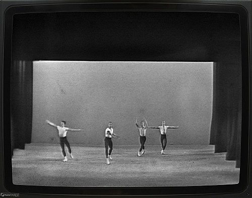 """George Balanchine – """"Agon"""", 1960 New York City Ballet in Montreal Telecast of March 10, 1960 16mm film, 23 min., b/w, sound DVD"""