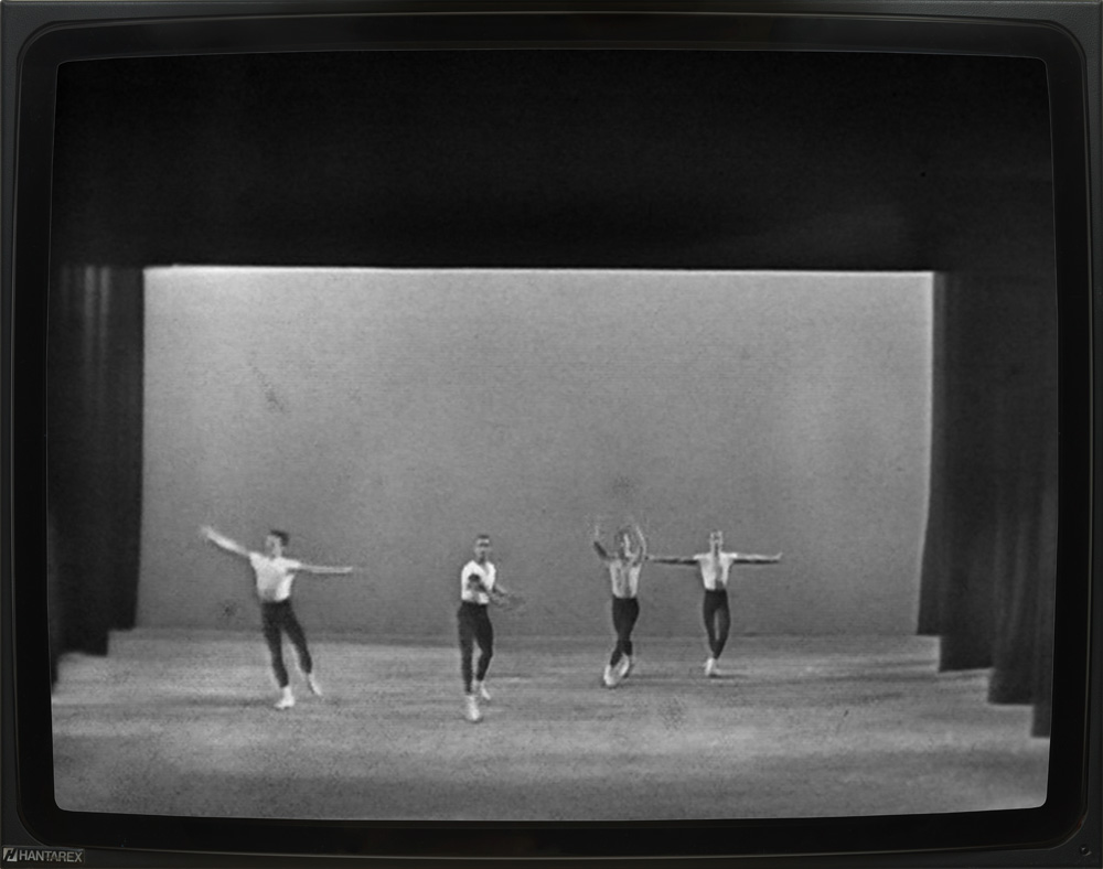 "George Balanchine – ""Agon"", 1960 New York City Ballet in Montreal Telecast of March 10, 1960 16mm film, 23 min., b/w, sound DVD"