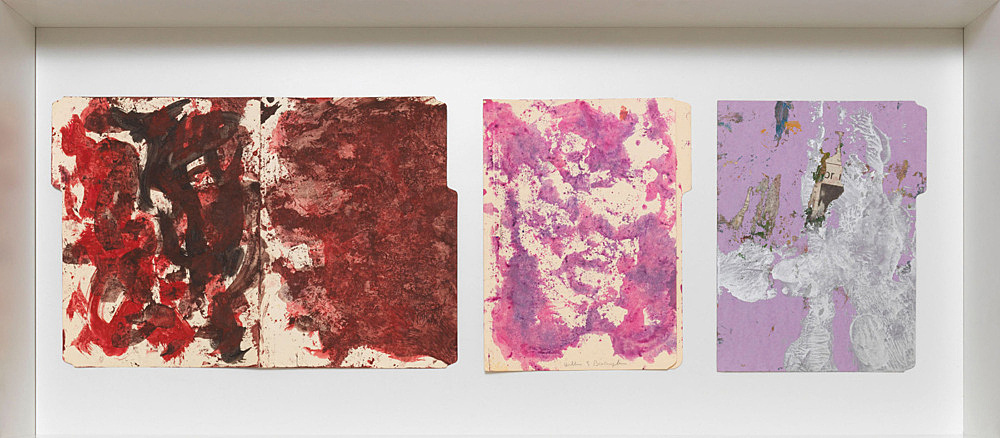 William S. Burroughs – Untitled, ca. 1992 mixed media on file folder each 29,9 x 46,7 cm