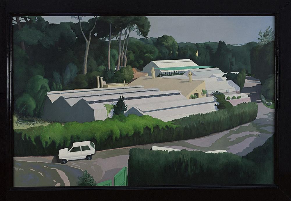 "Lukas Duwenhögger – ""Roman Holiday"", 1999 oil on canvas 172 x 242 cm"
